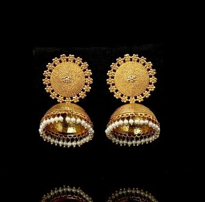 Micro Gold Polish Light Weight Jhumkis - Trends