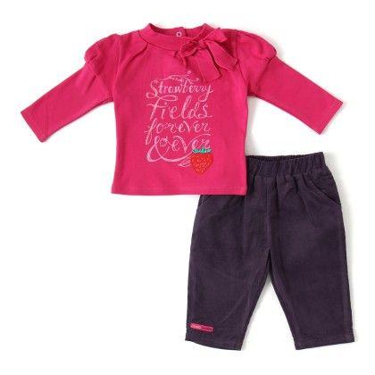 Set Of 2t-shirt & Long Pants -dk.pink - WWW