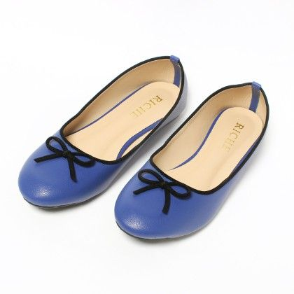 Riche Midnight Blue With Black Bow - Dark Blue