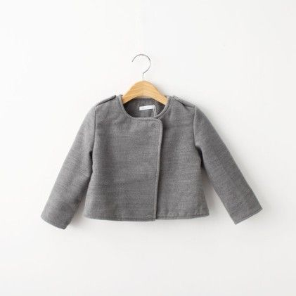 Girls Grey Cross Coat - Lil Mantra