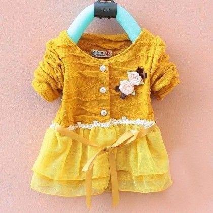 Peach Girl Dress - Yellow - Peach Giirl