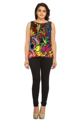 Georgette Abstract- Multi. - Avya