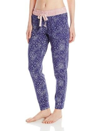 Women's Printed Tapered Pajama Pant Blue - TOMMY HILFIGER