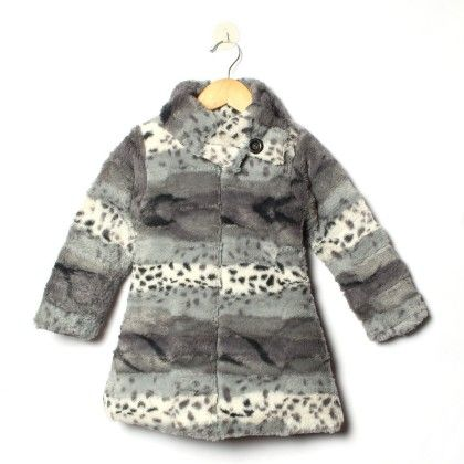 Grey And Black And White Dobby Havy Rollup Neck Quilted Jacket - Little Kangaroos