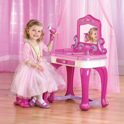 Deluxe Vanity With 15-piece Accessory Set - American Plastic Toys