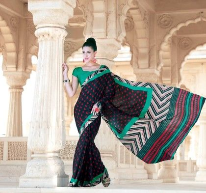 All Over Printed Saree - Fashion Fiesta