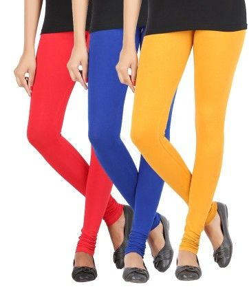 Elance Combo Leggings - Red,royal Blue,gold