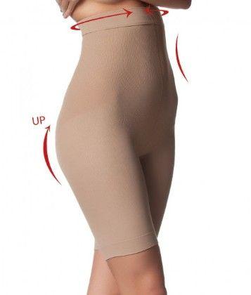 Scala High Waist Bermuda - Biofir Anti-cellulite (nude)