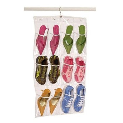 Clearly Organized Clear 12-pocket Shoe Caddy With Hanger - Richard Homewares