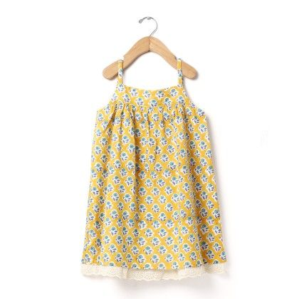 Block Printed Sun Dress - Buttercups