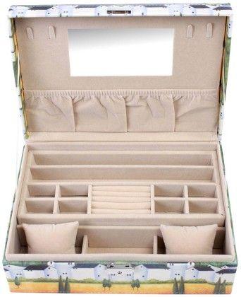 Uberlyfe Travel Friendly Vintage Style Old World Charm Jewellery Box Cum Organizer