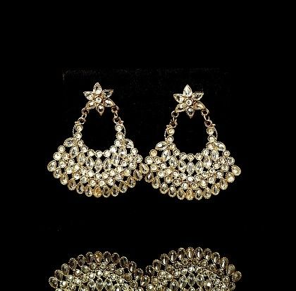 Western Look Earrings For Jeans And Saree Wear - Trends