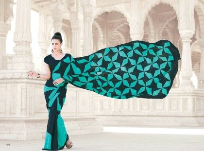Fan Printed Saree - Fashion Fiesta