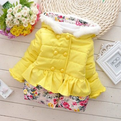 Yellow With Floral Prints Jacket - Lil Mantra