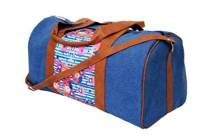 Duffle Bag Denim Denim Flower - Shor Sharaba