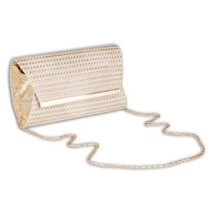 White Chevron Bag Hand Bag - Arancia