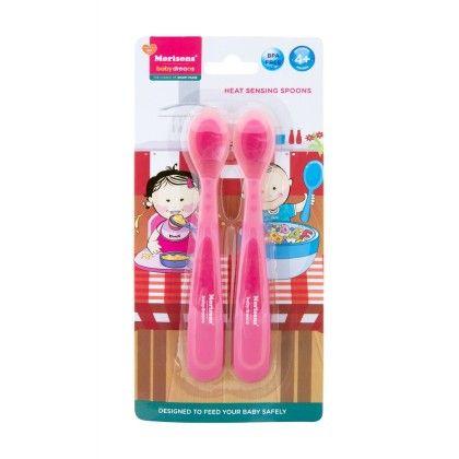 Heat Sensing Spoons-pink - Morisons* Baby Dreams