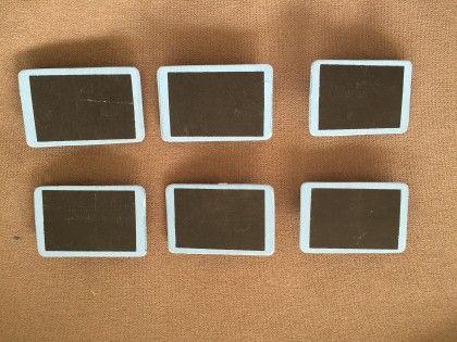 Ply Wood Set Of 6 Blackboard Clips (assorted) - Casa De Regalos