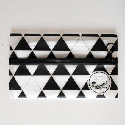 Wet Pouch Wet Wipe Travel Case (triangles) - Nest Designs