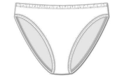 Plus Hi Cut Brief - White - Rene Rofe