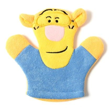 Hand Puppet And Scubber - Blue - BownBee