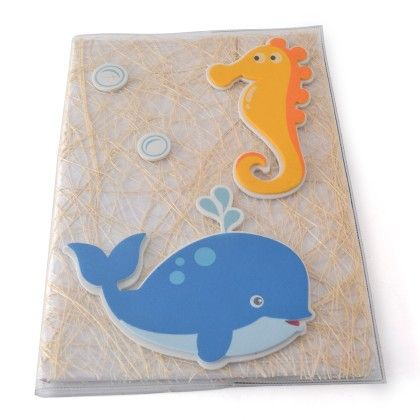 Reusable Notebook Cover With Notebook - Underwater Fun - BownBee