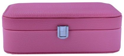 Travel Friendly Blush Pink Compact Jewellery Box Cum Organizer - S - Uberlyfe