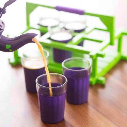 The Chaiwalla Set - Purple & Green - PoppadumArt
