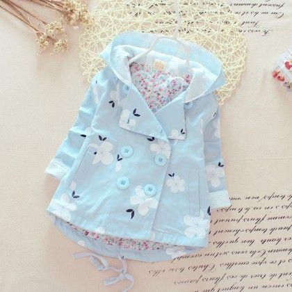 Blue Floral Print Jacket Dress - Maisie