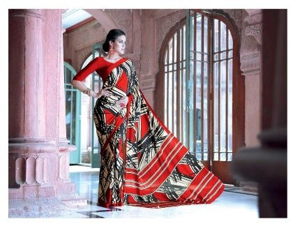 Modern Printed Saree - Fashion Fiesta