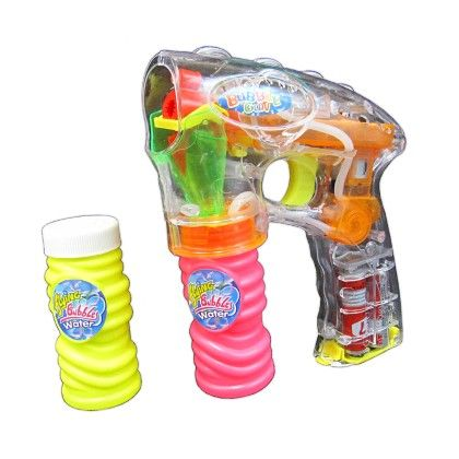 Electronic Led Light-up Bubble Gun Shooter With Two Refill Bottles - Multicolour - GLOPO