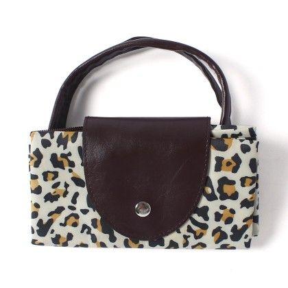 Brown Printed Design Shopping Bag - Krongs & Kong