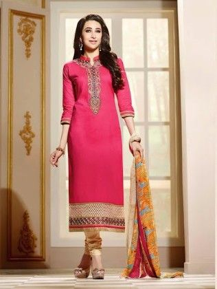 Straight Suit Dress Material - Fashion Fiesta
