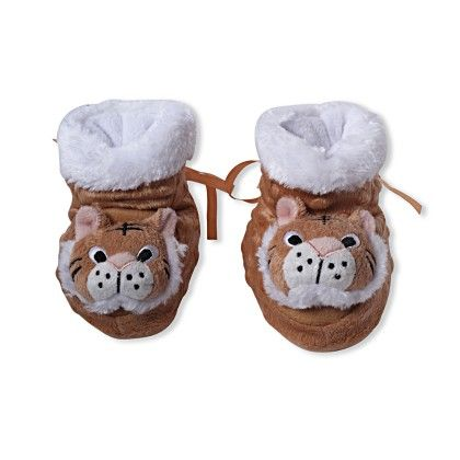 Ole Baby Soft Furry 3d Ole Toons Shoes - Brown