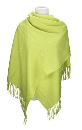 Fashion Large Lattice Long Shawl Big Grid Winter Warm Scarf - Fluroscent Green - Spikerking