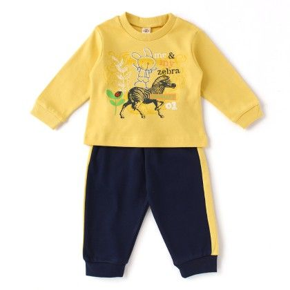Me & My Zebra Full Sleeves Set - Yellow / Navy - ZERO