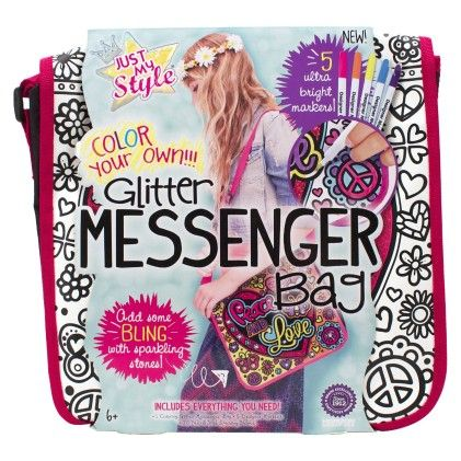 Glitter Messenger Bag Art & Craft - Just My Style
