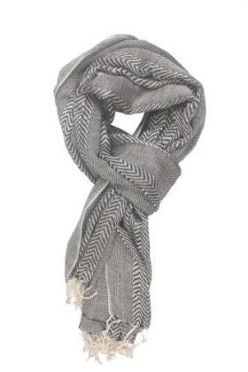 In-sattva Colors – Two-tone Horizontal Stripes Scarf Stole Grey - In Sattva