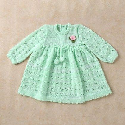 Pista & White Blended Dress - Knitting Nani