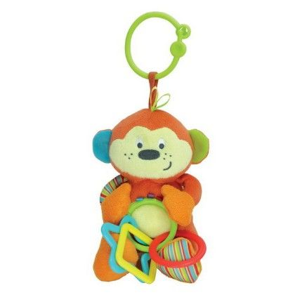Cheeeky Chimp Hand Rattle, Squeakers, Crinkle With Sound - Little Pals
