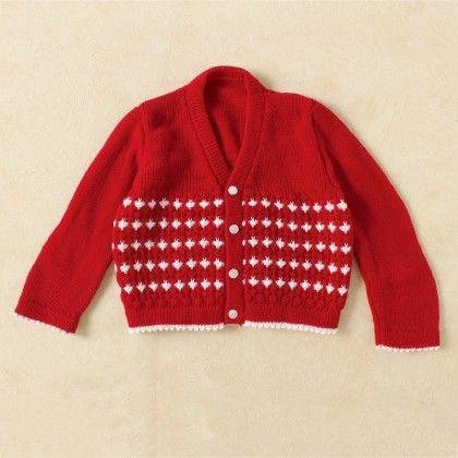Red & White Christmas Sweater - Knitting Nani