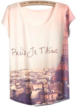 White Short Sleeve Pylon Print T-shirt - She In