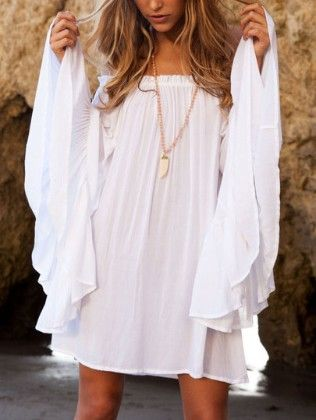 Butterfly Sleeve Off The Shoulder Top - She In