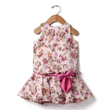 Classic Bow Lace Dress - Baby Pink - The KidShop