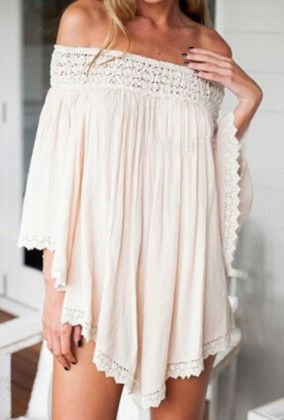 Apricot Off The Shoulder Panelled Loose Blouse - She In
