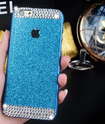 Luxury Rhinestone Crystal Phone Cover With Hard Case   ( Shimmer Design-blue) - Dressingloft