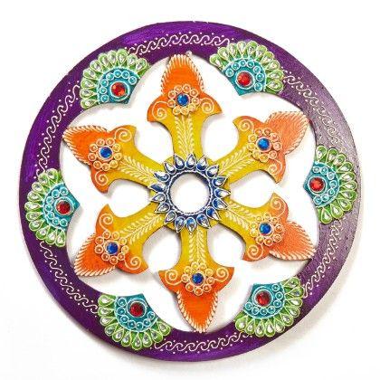 Circle Jhali Floor Rangolli 1 - Color Crave