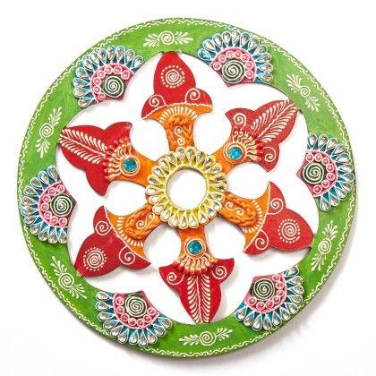 Circle Jhali Floor Rangolli 5 - Color Crave
