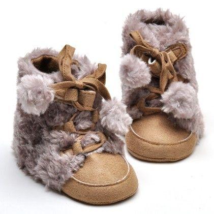Cute Creative Double Ball Lace Up Anti Slip Shoes-dk Brown - Aww Hunnie!!