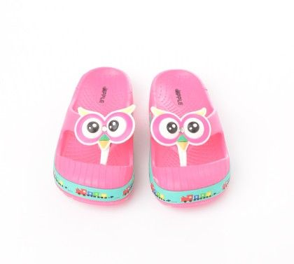 Owl Bird Slip Ons Finger Covered -pink - Red Apple